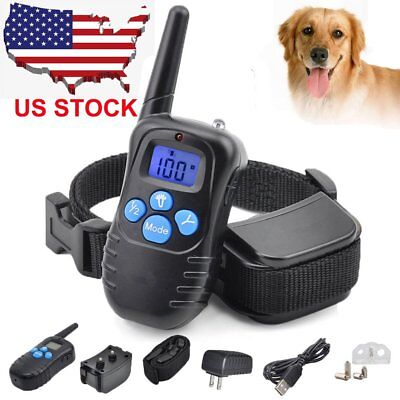 330 Yard Waterproof Rechargeable LCD Electric Remote Dog Training Shock Collar