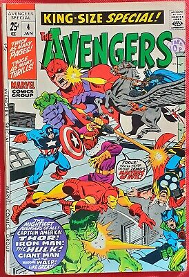 AVENGERS 4 KING SIZE SPECIAL Marvel 1971