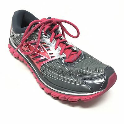 3169131409072 Women s Brooks Glycerin 14 Running Shoes Sneakers Size 9B Gray Red Pink AA8