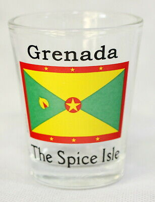 Grenada Flag Shot Glass Shotglass