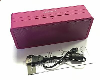 Insignia Portable Wireless Bluetooth Speaker Boysenberry Pink NS-SPBTBRICK-BY