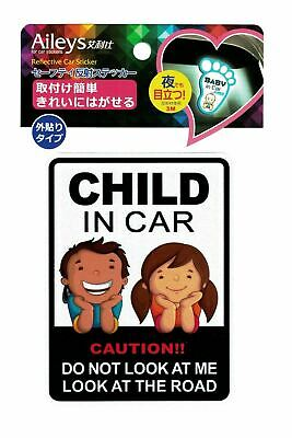 Child in Car Baby in Car Reflective Sticker 11x14.7(H*W),  Premium 3M Material