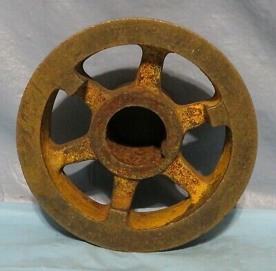 Vintage Industrial Machine Age Cast/Steel Crank Pulley Steampunk Art Lamp Part