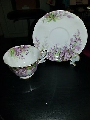 Vintage China Trio Tea Cup Saucer Side Plate Royal Standard Wistaria