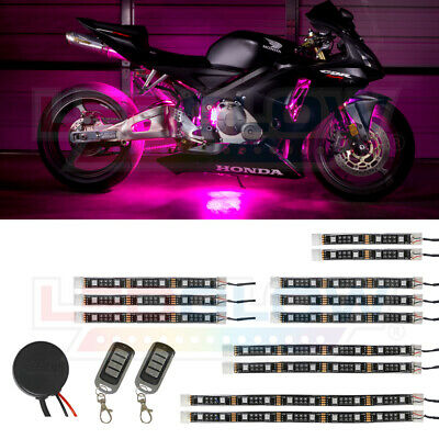 LEDGlow Pink Motorcycle SMD LED Neon Lights Kit w 12 Strips & 240 LEDs
