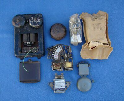 Vintage Telephone Ringer Box Army Military New Armature Relay Navy Lot
