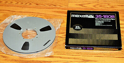 Tandberg 10 1/2 inch Metal Reel With Maxell Box and Tape - Excellent Condition