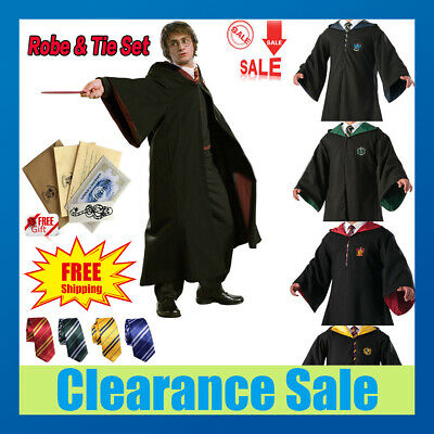 Harry Potter Hogwarts Adult Child Robe Cloak Halloween School COS Costumes