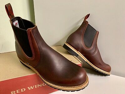 259fb113d2e NEW RED WING HERITAGE 2917 MENS 9D CHELSEA RANCHER BRIAR OIL SLICK BOOTS  2nds