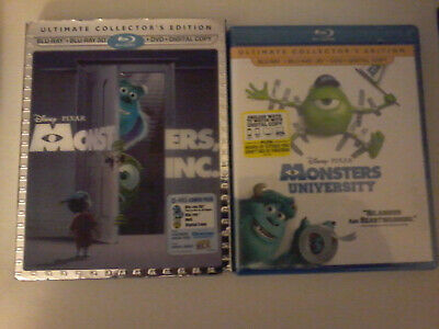 Monsters Inc + Monsters University: Blu-Ray 3D's!