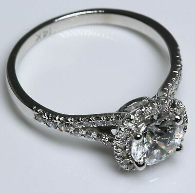 2 Ct Solitaire Diamond Engagement Ring Round Cut D/SI White Gold 14k Enhanced