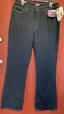 d827b7f1 NEW NWT Lee Jeans Slender Secret Boot Cut Stretch Jeans Size 16 Medium X 33""