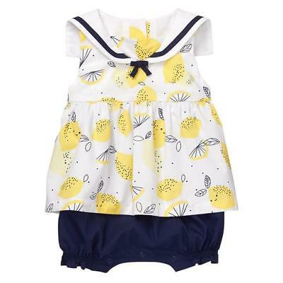 NWT Gymboree Bright Days Ahead Captain Adorable Whale Crab Romper 1PC Baby Boy