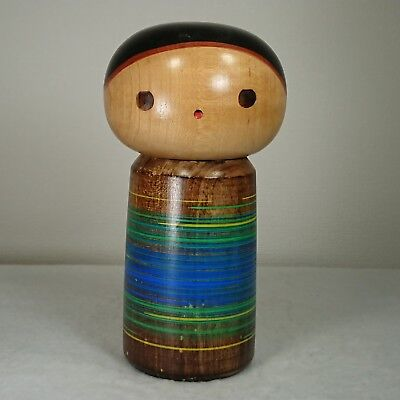 "16.5cm/469g Cute! Kokeshi Doll by""Sanpei Yamanaka"". Japanese traditional crafts."