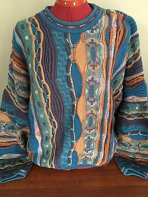 Vintage Tundra Canada COOGI Cosby Sweater Size Large 80s 90s