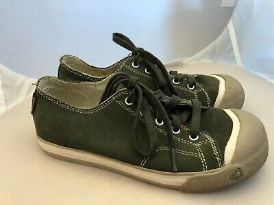 8fca8b7c224 Keen Green Sueded Canvas Sneakers Lace Up Shoes Youth Size 4 (euro 37) Boys