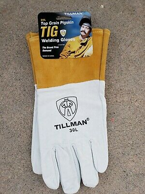 Tillman 30L Top Grain Pearl Pigskin Tig Welders Gloves LARGE