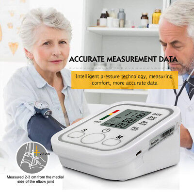 Auto Digital Arm Blood Pressure Monitor BP Cuff Machine Gauge Sphygmomanometer