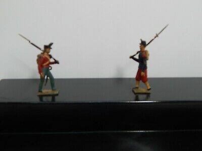Two Vintage Metal Toy Soldiers Made In France