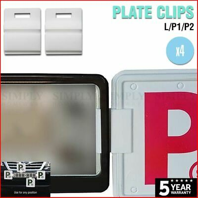 4x P Plate Clips White L Green Red Holder Car Number Set License NSW P1 P2 Free