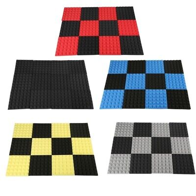 Charcoal Acoustic Foam Tiles Soundproofing Foam Panels Studio Sound Padding M0M2