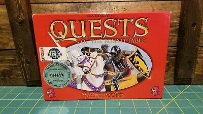 OOP Quests of the Round Table Gamewright Adventure Card Board Game Medieval