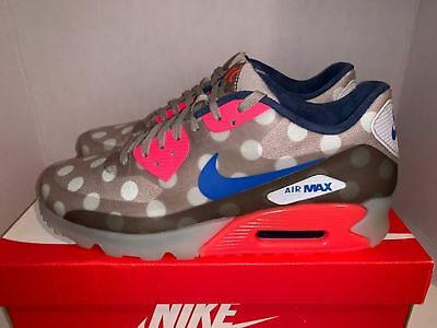 NIKE AIR MAX 90 Ice New York City Qs Dots Punch Blue Rare (667635 001) Sz 10