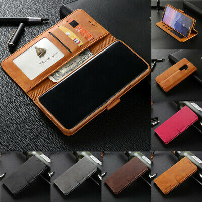 Luxury PU Leather Magnetic Flip Wallet Case Cover For Samsung Galaxy M20 M10 S10