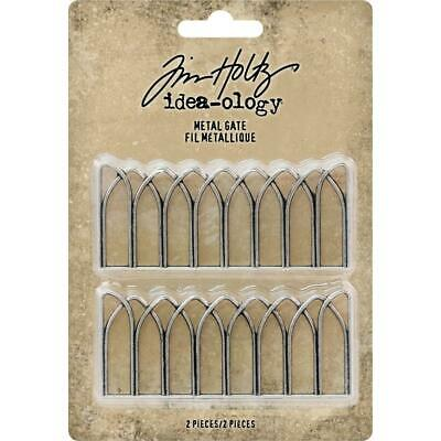 Tim Holtz Idea-ology 'METAL GATE' 2pc Metal Embellishments Scrapbooking/Craft