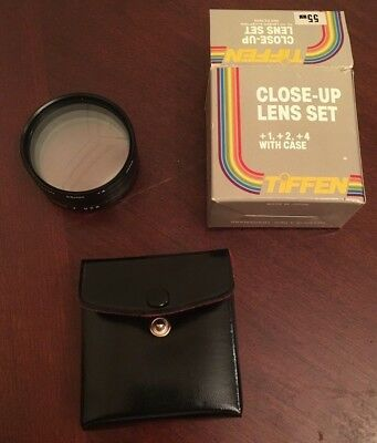 Tiffen 55mm Close Up Lens Set +1 +2 +4 Filters with  Case and Box