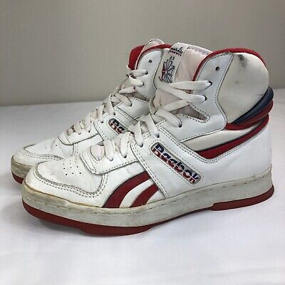 73f4f34fbc642 VTG Reebok High Top Sneakers 80s Korea Basketball Men s 8.5 OG Athletes Shoe  90s