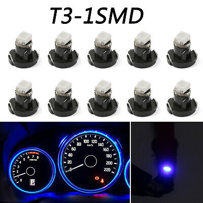 10x T3 Neo Wedge Led Bulbs Instrument Panel Cer Interior Lights Pure Blue A7