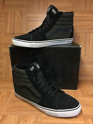 be4cbdd227f031 RARE🔥 VANS Rebel8 Mike Giant Sk8-Hi Black White Skateboarding Shoes Sz 13  Men s