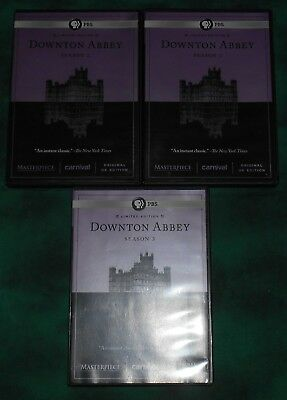 DVD lot PBS Downton Abbey Limited Edition set - seasons 1 2 3 one two three