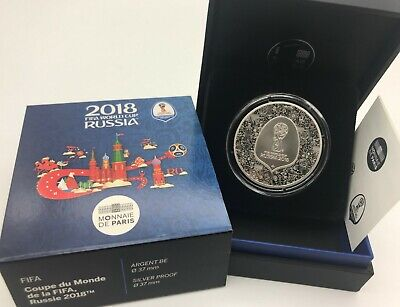 Francia 2018 10 euros FIFA World Cup Russia Argent Proof Silver/ Monnaie in