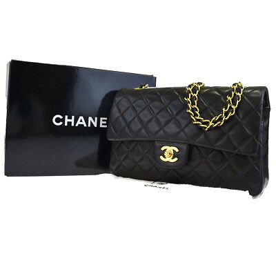 4f2414e6d97cf Auth CHANEL CC Matelasse Double Flap Quilted Chain Shoulder Bag Leather  300L581