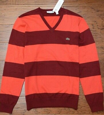 ad7a9dc665 Lacoste Homme Col V Pinot / Tango à Rayures Sweat Coton XL Ue