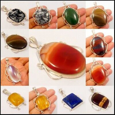 Multi Gemstone .925 Silver Plated Free Shipping Pendants Jewelry JC4658-JC4768