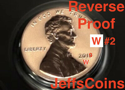 2019 W REVERSE Lincoln Shield Cent Proof New West Point Penny Union US Mint #2/3