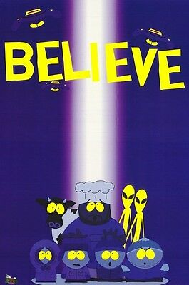 TV POSTER~South Park Aliens Cartman Abduction Believe U Full Size In Space New~