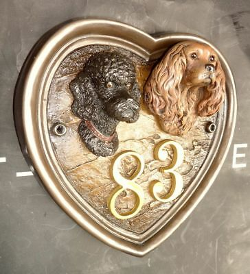 GLOBAL SHIP HEART ALL 70 -Mix- Breed DOG HOUSE/PLAQUE/SIGN FIGURINE  SCULPTURE