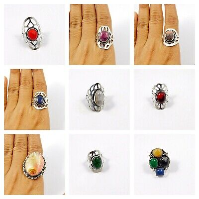 Multi Stone .925 Silver Plated Free Shipping Ring Jewelry JC7801-JC7857