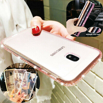 For Samsung J4 J6 J8 2018 J3 J5 J7 Pro 2017 Bling Diamond Clear Soft Case Cover