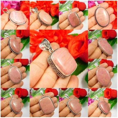 Pink Calcite .925 Silver Plated Free Shipping Pendants Jewelry JC3585-JC3718