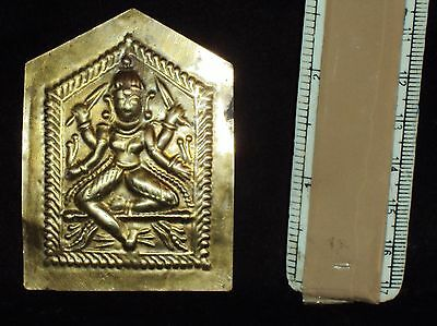Antique Hindu Traditional Indian Ritual Plaque of Goddess Durga Rare #