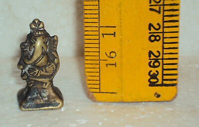 Antique Hindu God Ganesha Traditional Indian Ritual Rare Brass Elephant God #wh