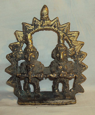 Antique Hindu Traditional Indian Ritual Bronze TRIBAL Figures Of Hindu Sages #1