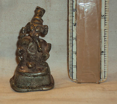 Antique Hindu God Ganesha Traditional Indian Ritual Rare Bronze Elephant God#14
