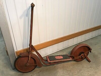 Original Vintage 1940's-50's Australian Made Cyclops Red Metal Scooter