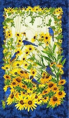 Bluebirds Quilt Panel * Chong-A Hwang * Beautiful * New * Free Post *